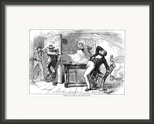 Murder Of Smith, 1844 Framed Print By Granger
