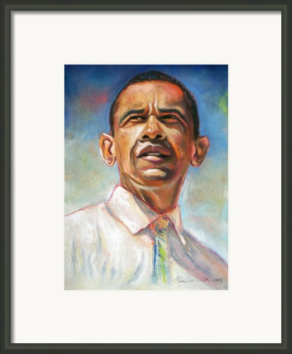 Obama 08 Framed Print By Dennis Rennock