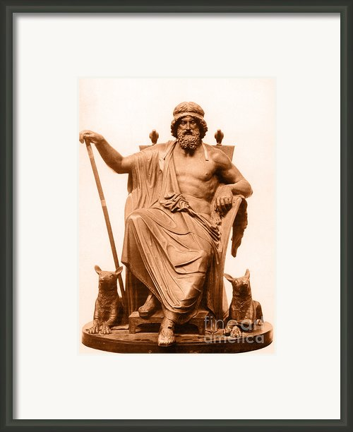 Odin, Norse God Framed Print By Photo Researchers
