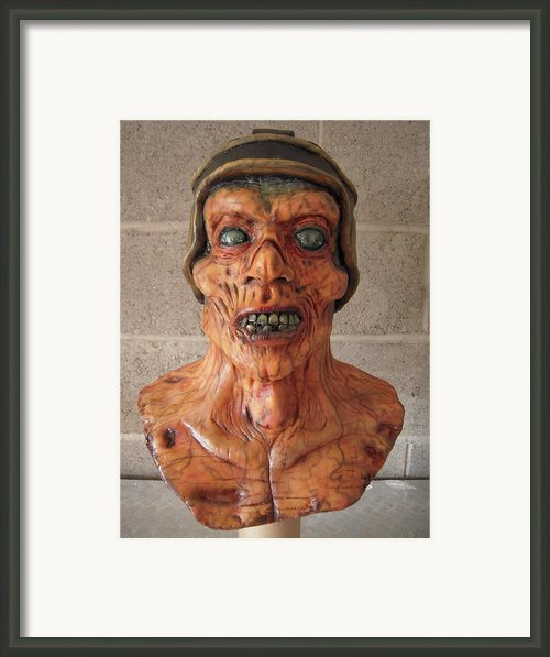 Ole Leather Head Framed Print By Scott Conner