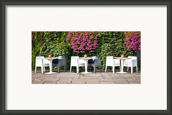 Outdoor Cafe Framed Print By Tom Gowanlock