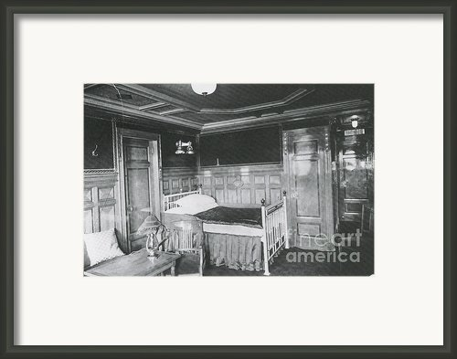 Parlour Suite Of Titanic Ship Framed Print By Photo Researchers