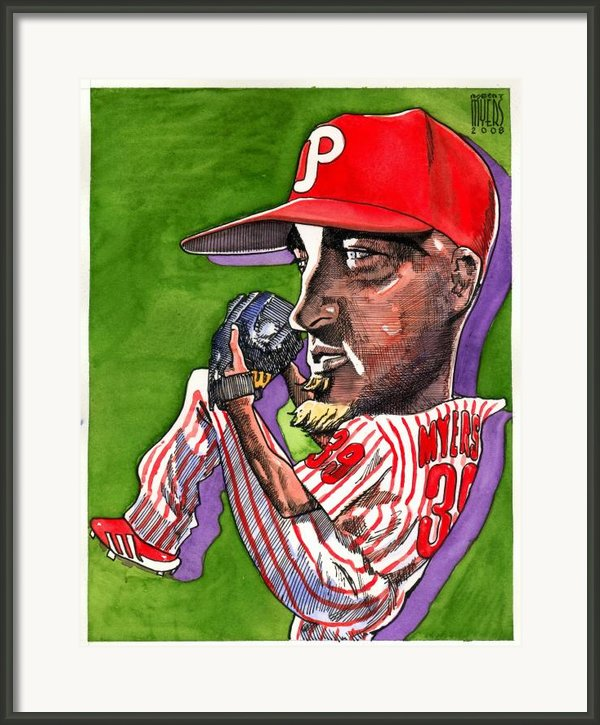 Phillies Framed Print By Robert  Myers