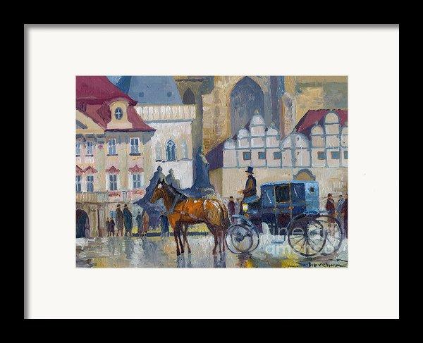 Prague Old Town Square 01 Framed Print By Yuriy  Shevchuk