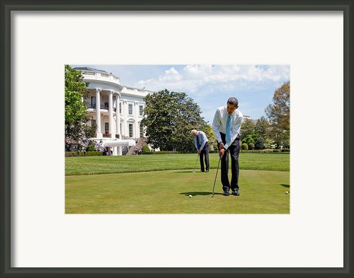 President Barack Obama And Vice Framed Print By Everett