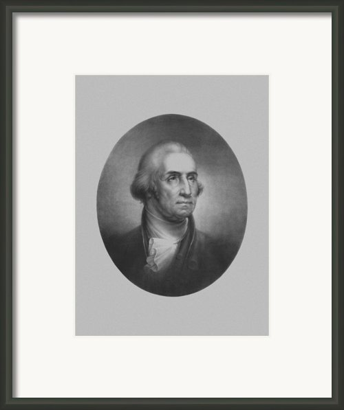 President George Washington Framed Print By War Is Hell Store