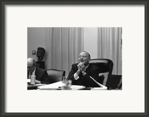 President Lyndon Johnson Framed Print By Everett