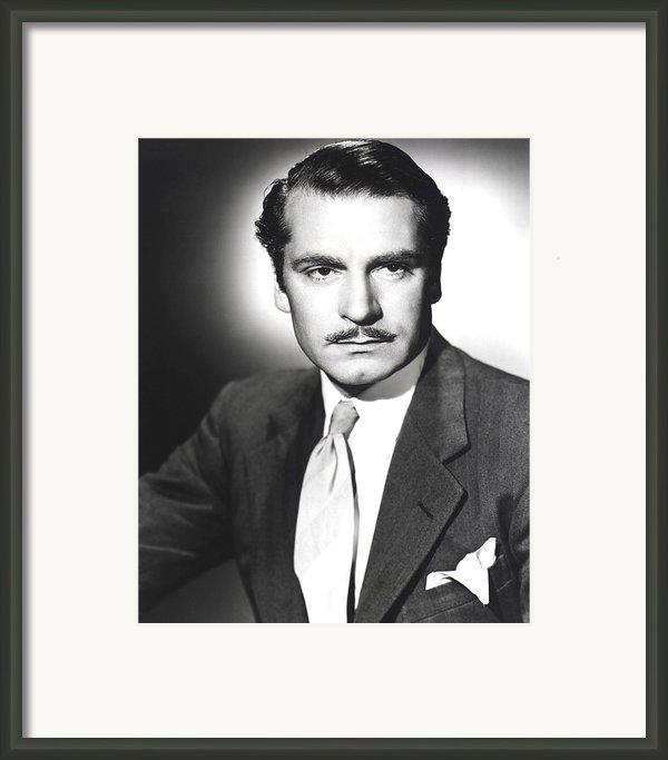 Rebecca, Laurence Olivier, 1940 Framed Print By Everett