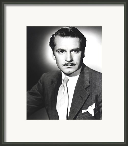 Rebecca, Laurence Olivier, 1940 Framed Print By Everett