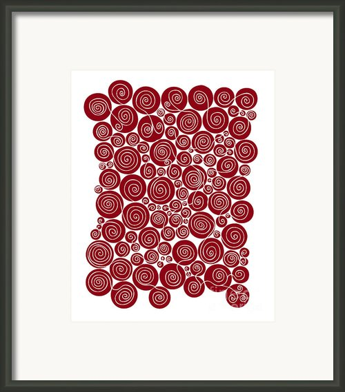 Red Abstract Framed Print By Frank Tschakert