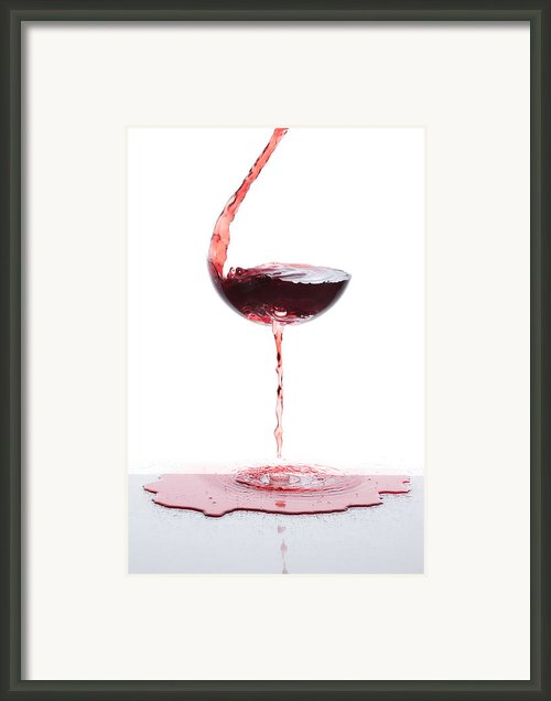 Red Wine Framed Print By Floriana Barbu