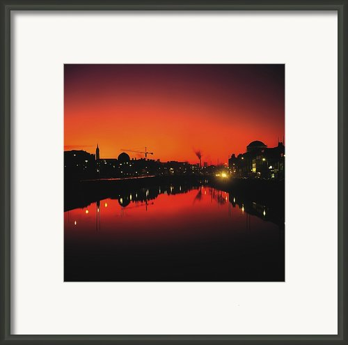 River Liffey, Dublin, Co Dublin, Ireland Framed Print By The Irish Image Collection