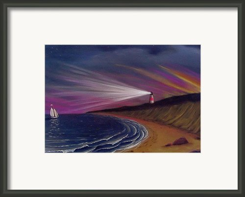 Sankaty Head Lighthouse Nantucket Framed Print By Charles Harden