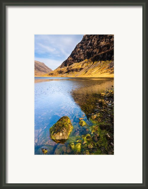 Scottish Highlands Landscape Scene With Mountain And Loch Framed Print By Andrew Sproule