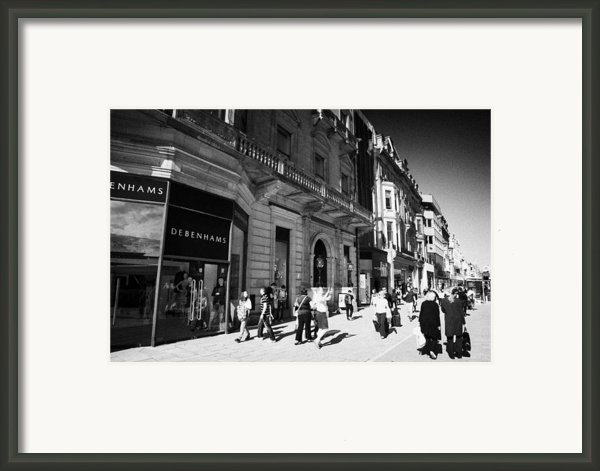 Shoppers And Tourists On Princes Street Edinburgh Scotland Uk United Kingdom Framed Print By Joe Fox