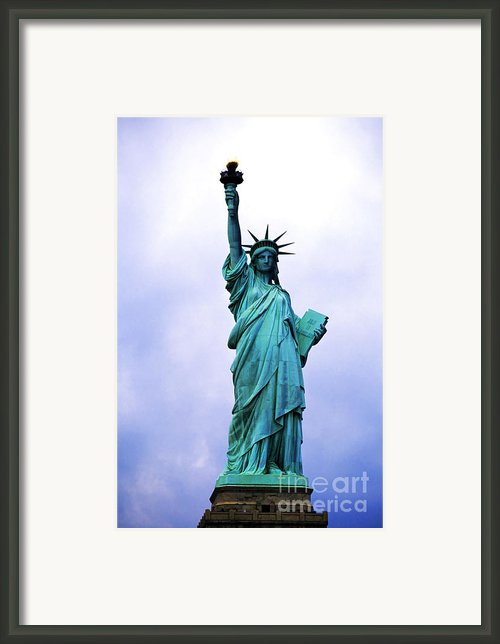 Statue Of Liberty Framed Print By Sami Sarkis