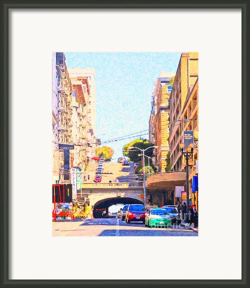 Stockton Street Tunnel In San Francisco Framed Print By Wingsdomain Art And Photography
