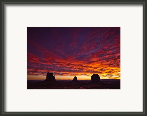 Sunrise Over Monument Valley, Arizona Framed Print By Robert Postma