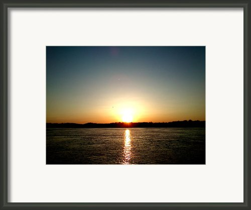 Sunset Framed Print By Lucy D