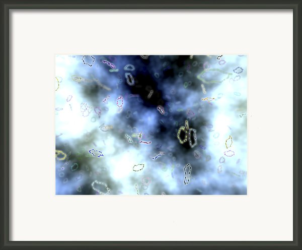 Superstrings, Conceptual Artwork Framed Print By Equinox Graphics
