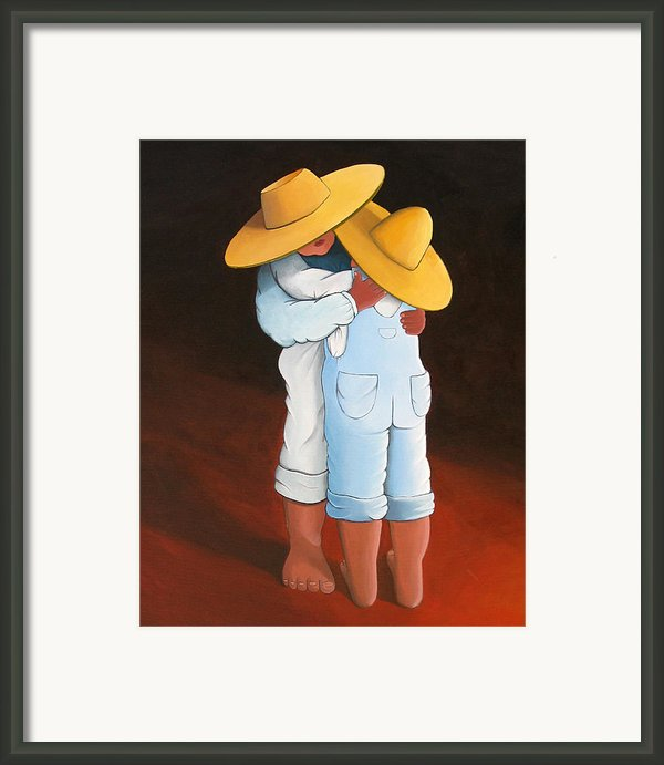 Sweet Embrace Framed Print By Lance Headlee