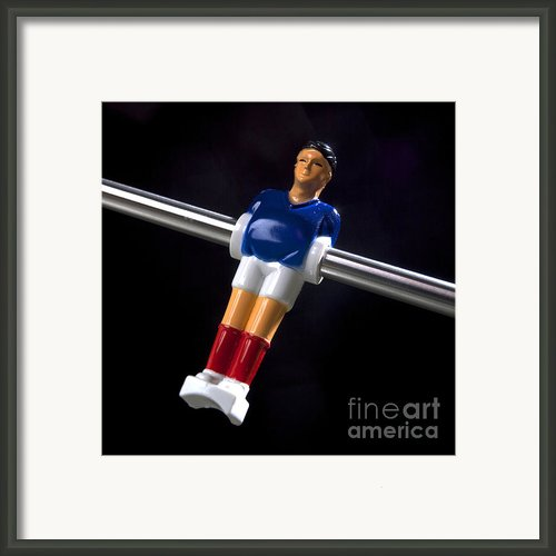 Tabletop Soccer Figurine Framed Print By Bernard Jaubert