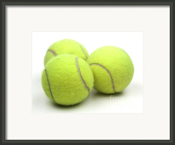 Tennis Balls Framed Print By Blink Images