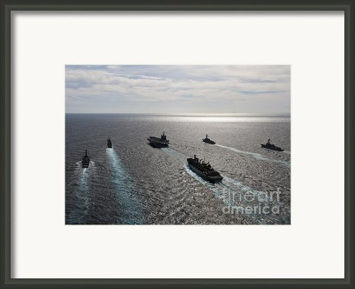 The Enterprise Carrier Strike Group Framed Print By Stocktrek Images