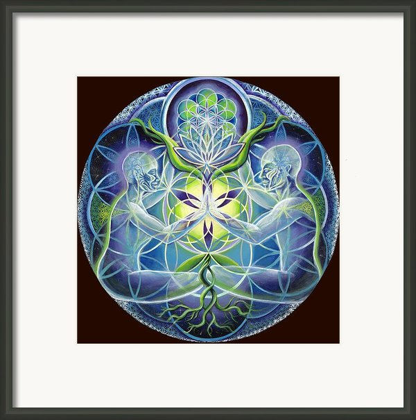 The Flowering Of Divine Unification Framed Print By Morgan  Mandala Manley