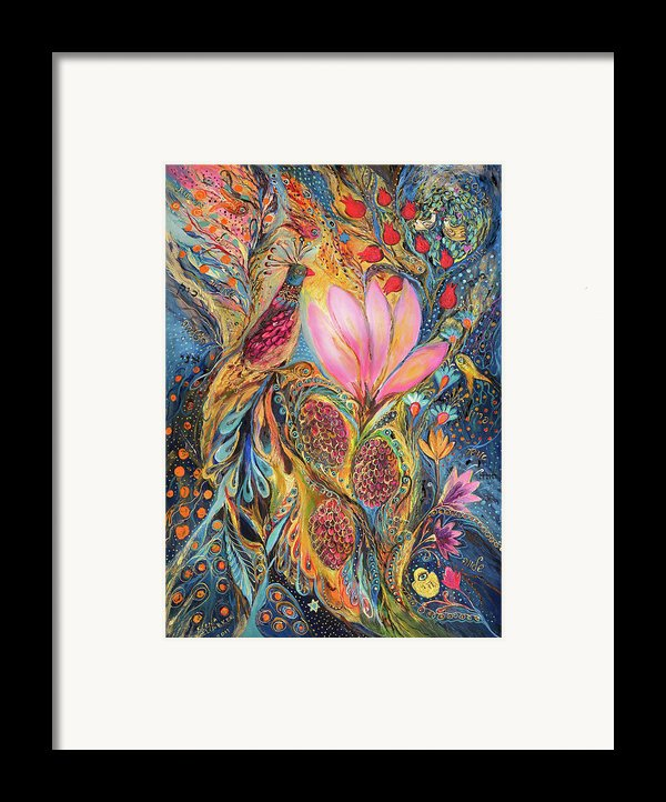 The Grapes Of Holy Land Framed Print By Elena Kotliarker