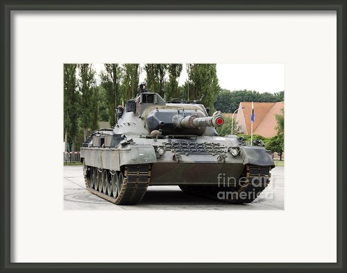 The Leopard 1a5 Of The Belgian Army Framed Print By Luc De Jaeger
