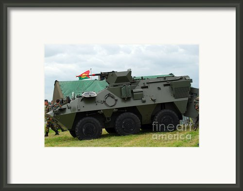 The Pandur 6x6 Family Of Wheeled Framed Print By Luc De Jaeger
