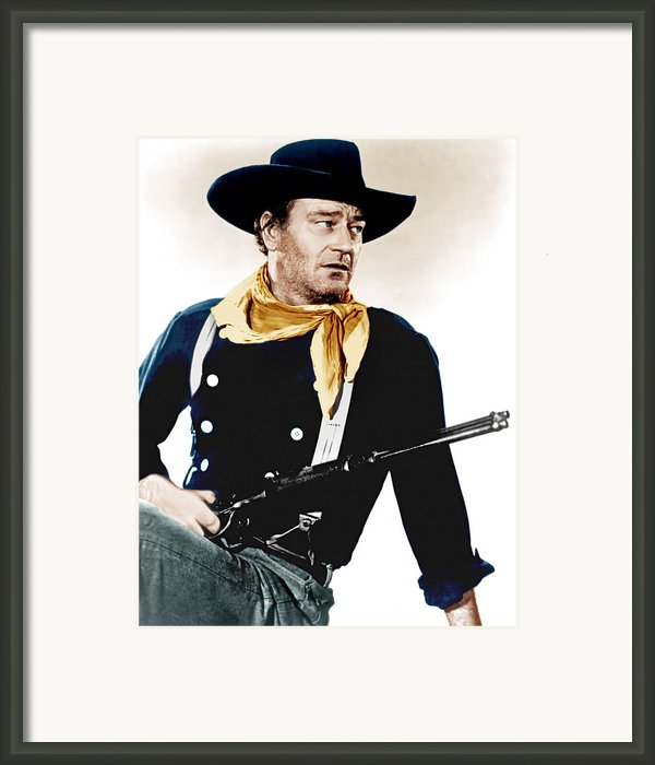 The Searchers, John Wayne, 1956 Framed Print By Everett