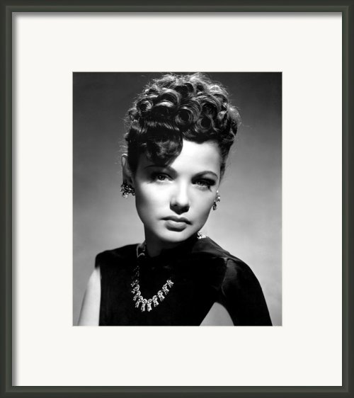 The Shanghai Gesture, Gene Tierney Framed Print By Everett