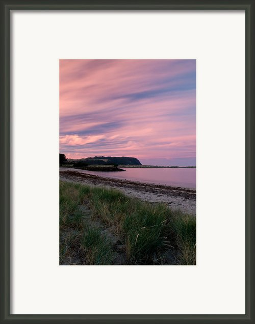 Twilight After A Sunset At A Beach Framed Print By Ulrich Schade