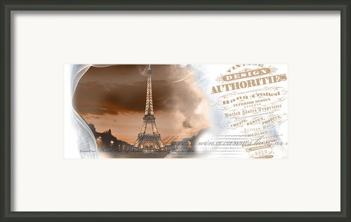 Umgx Vintage Design Parisian Photo Framed Print By David Cook