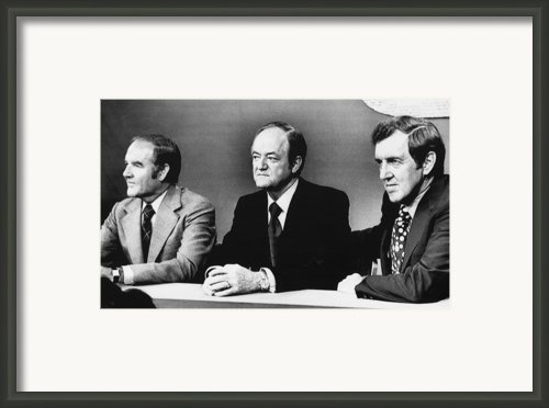 Us Elections. From Left Us Senator Framed Print By Everett