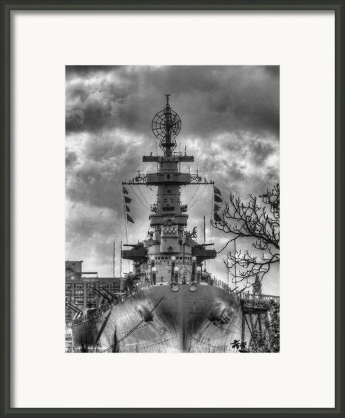 U.s.s. North Carolina Framed Print By Jc Findley