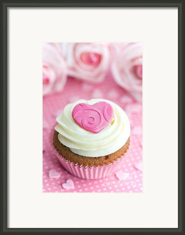 Valentine Cupcake Framed Print By Ruth Black