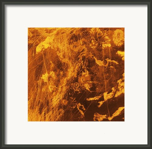 Venus, Synthetic Aperture Radar Map Framed Print By Detlev Van Ravenswaay