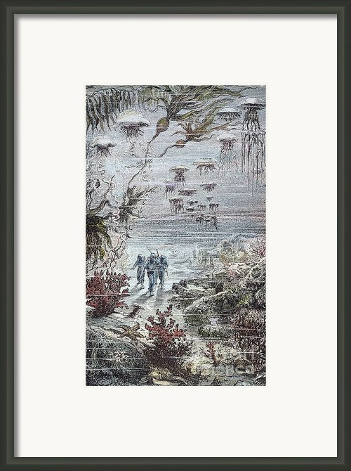Verne: 20,000 Leagues, 1870 Framed Print By Granger