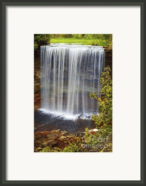 Waterfall Framed Print By Elena Elisseeva