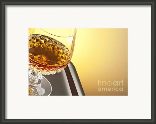 Whiskey In Stem Glass Framed Print By Blink Images