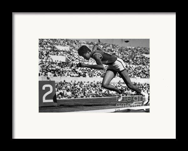 Wilma Rudolph (1940-1994) Framed Print By Granger