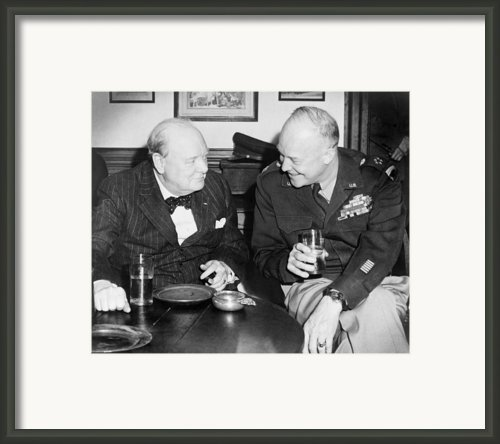 Winston Churchill 1874-1965 Framed Print By Everett