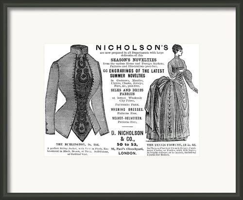 Womens Fashion, 1886 Framed Print By Granger