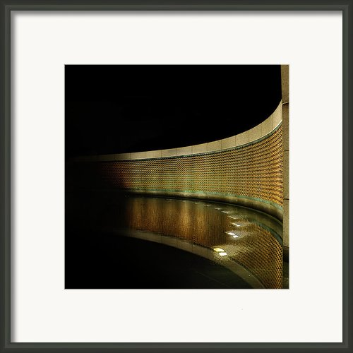 World War Ii Memorial - Stars Framed Print By Metro Dc Photography
