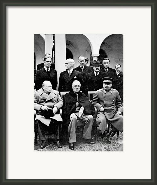 Yalta Conference, 1945 Framed Print By Granger
