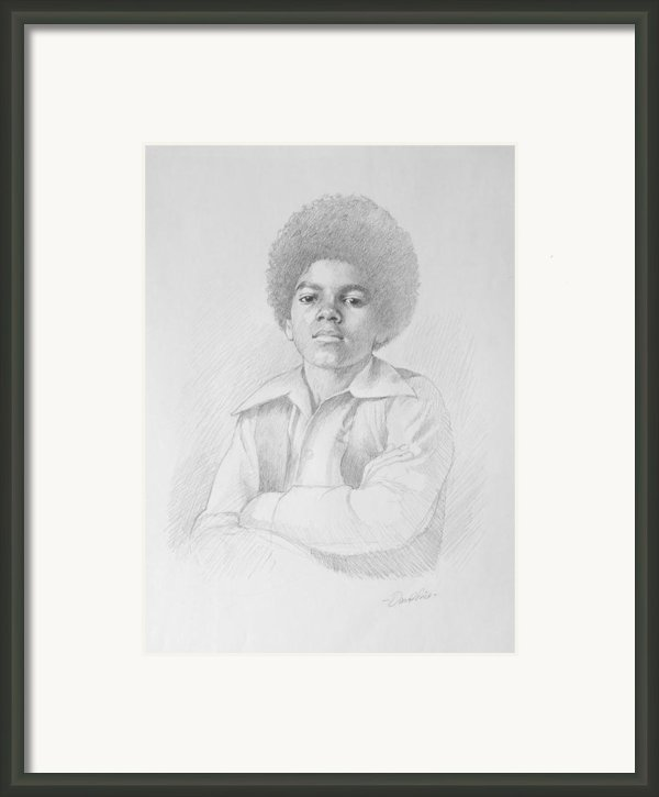 Young Michael Framed Print By David Price