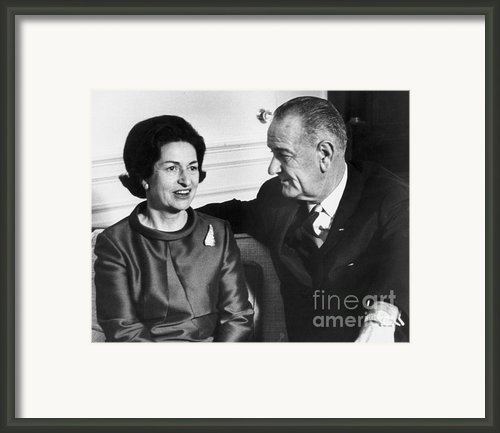 Lyndon Baines Johnson Framed Print By Granger